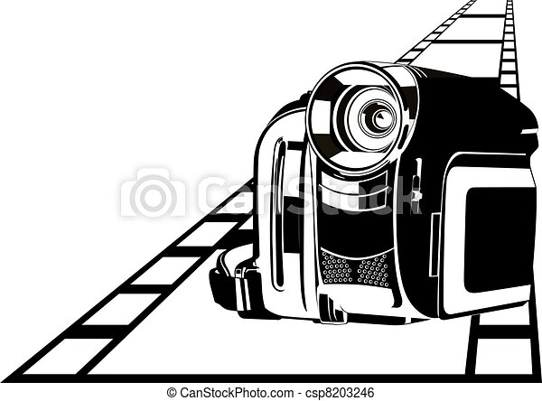 Camcorder modern digital video camera to film background clip camcorder vector voltagebd Image collections