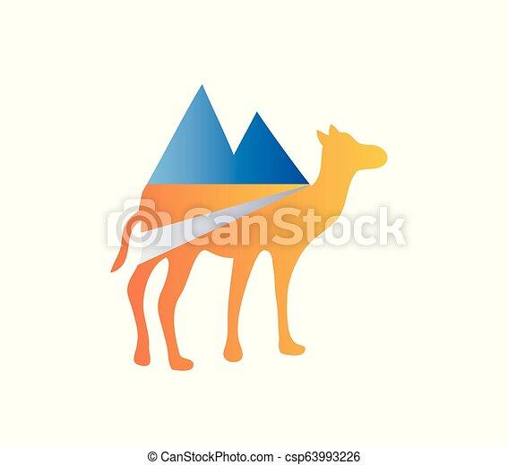 Camel Adventure Logo - csp63993226