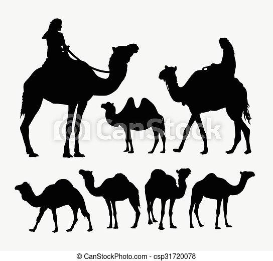 Camel animal silhouettes - csp31720078