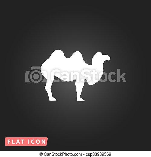 Camel flat icon - csp33939569