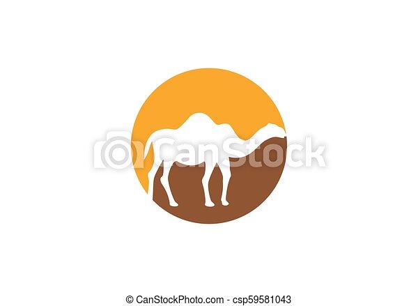 Camel logo vector - csp59581043