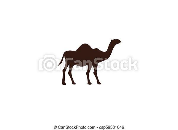 Camel logo vector - csp59581046