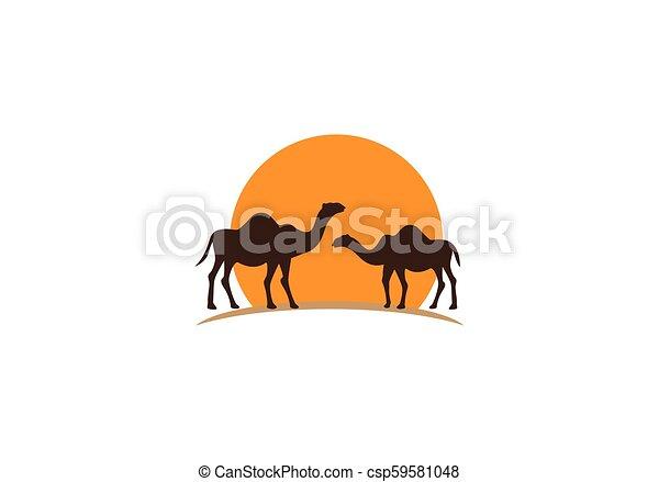 Camel logo vector - csp59581048