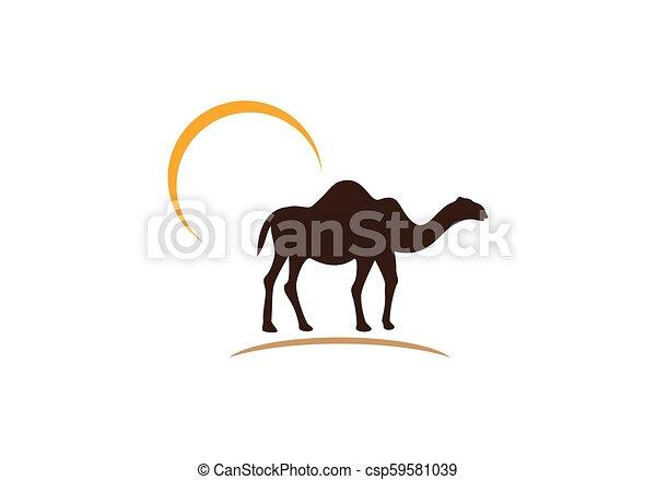 Camel logo vector - csp59581039