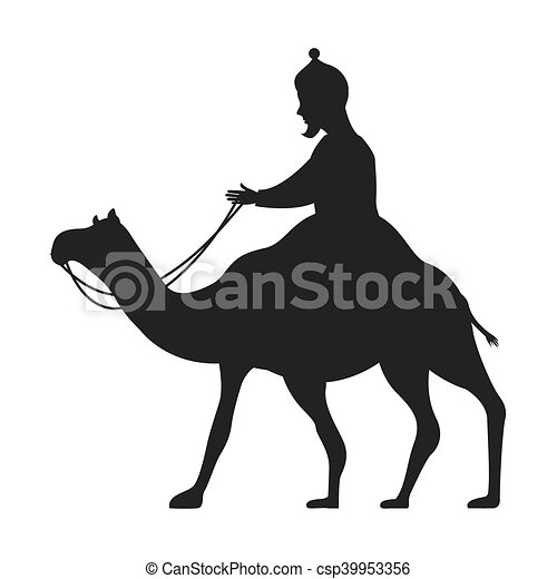 camel silhouette isolated icon - csp39953356