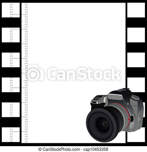 Camera and a frame of film - csp10453358