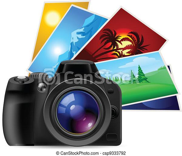 Camera and photos - csp9333792