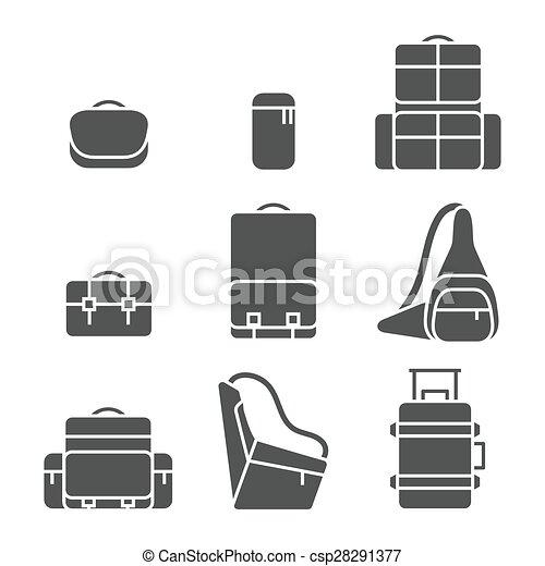 Camera bag icon set - csp28291377