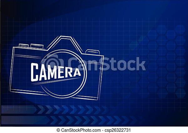 camera design on technology background ,vector illustration. - csp26322731