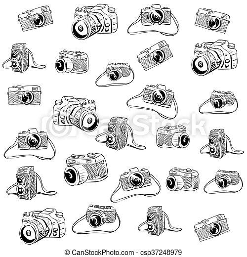 Camera Doodle Illustration - csp37248979