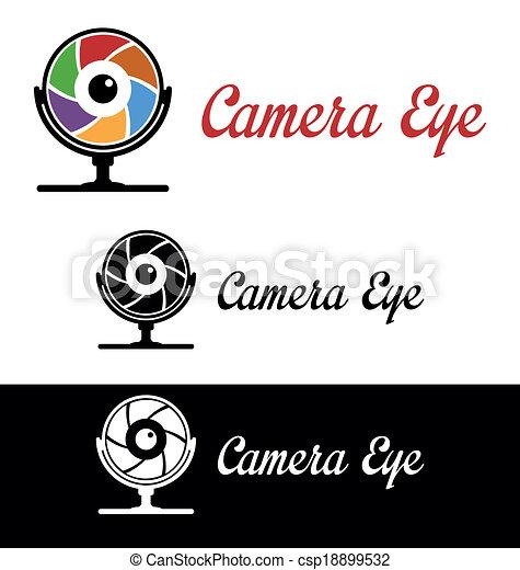 Camera eye logo - csp18899532