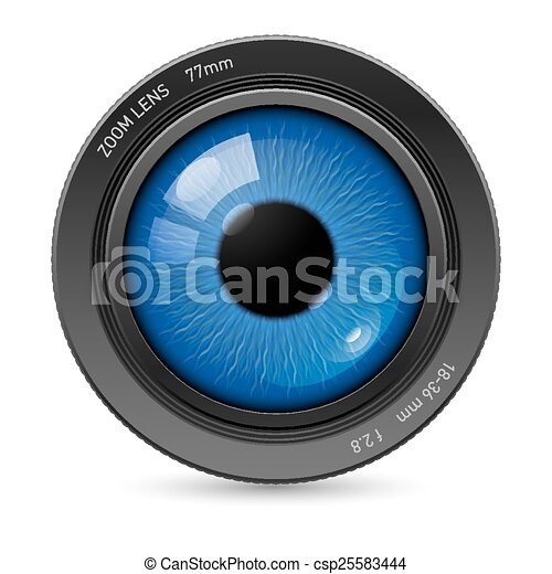 Camera eyes lens - csp25583444