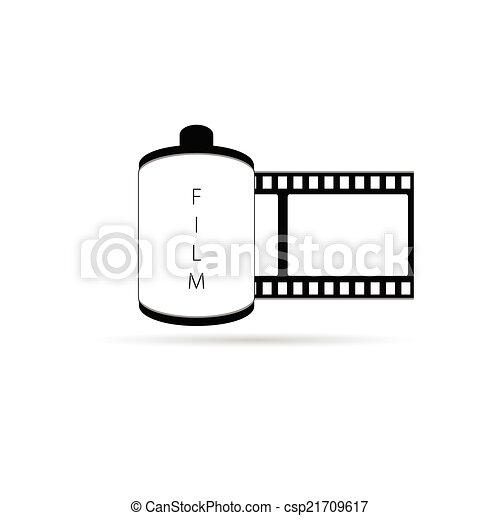 camera film icon vector illustration - csp21709617