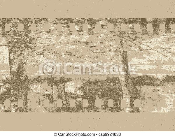 camera film on brown background, vector illustration - csp9924838