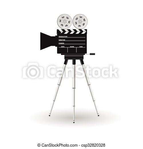 camera film tape vector illustration - csp32820328
