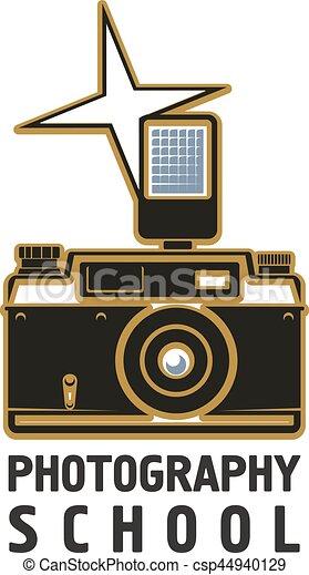 Camera flash photography school vector icon - csp44940129