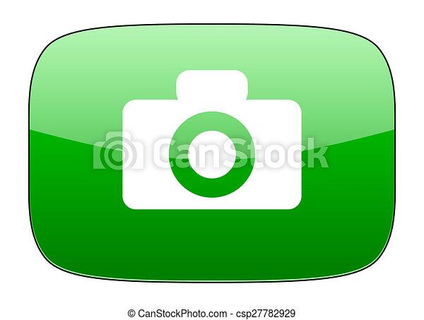 camera green icon - csp27782929