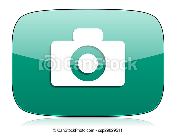 camera green icon - csp29829511