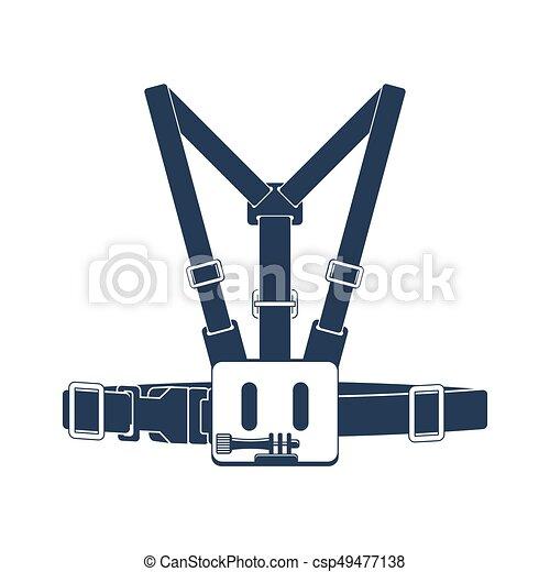 Camera Head Strap Mount Vector Icon