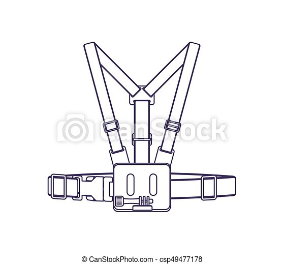 Camera Head Strap Vector Icon