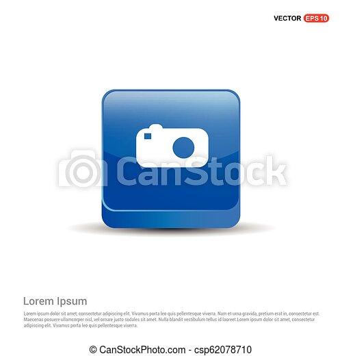 Camera Icon - 3d Blue Button - csp62078710
