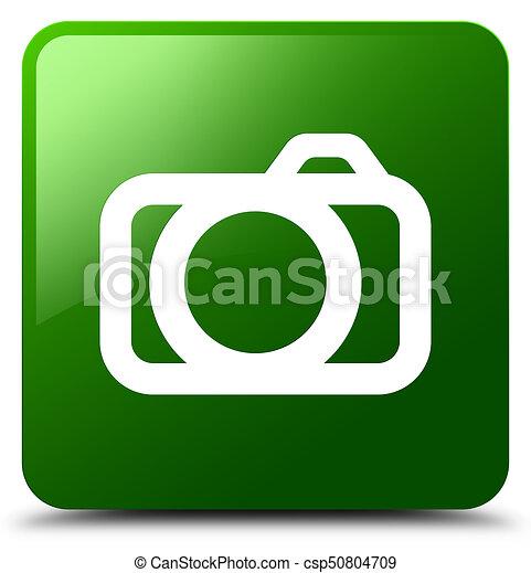 Camera icon green square button - csp50804709