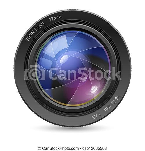 Camera icon lens - csp12685583