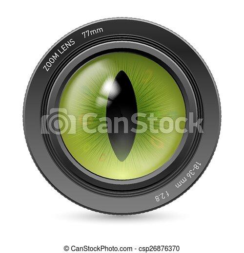 Camera icon lens - csp26876370
