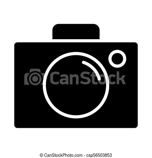 Camera Icon Vector Simple Minimal 96x96 Pictogram