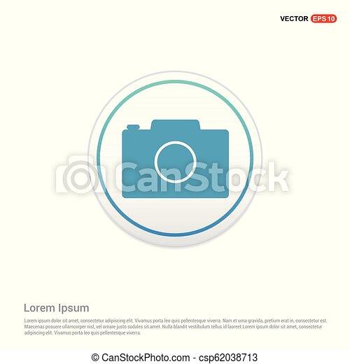 Camera Icon - white circle button - csp62038713
