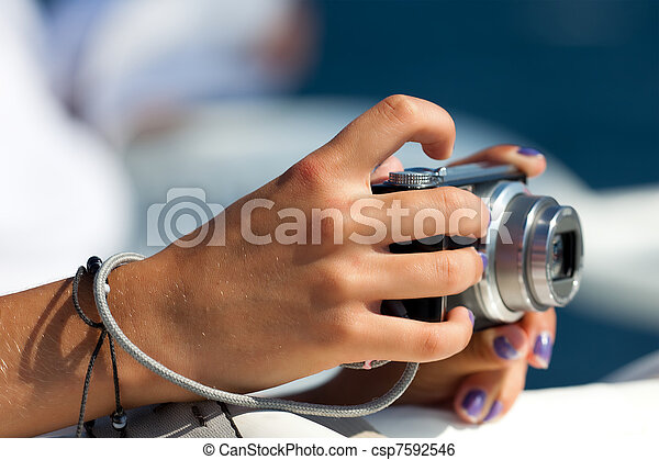 Camera in the hands - csp7592546