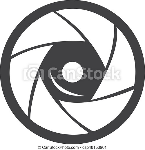 camera lens icon in black on a white background vector vector rh canstockphoto com free camera lens clipart free camera lens clipart