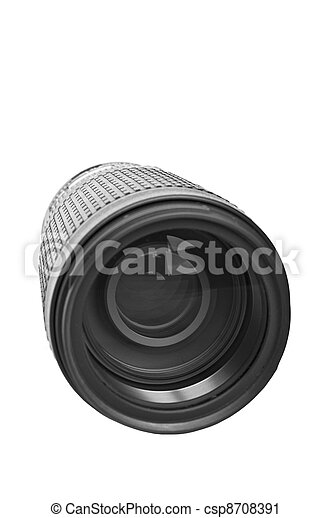 Camera lens isolated on white - csp8708391