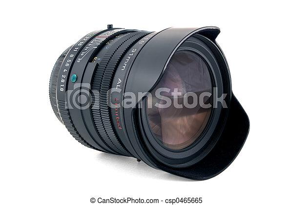 Camera Lens shot with infinite DOF - csp0465665