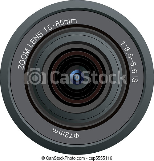 camera lens vector - csp5555116