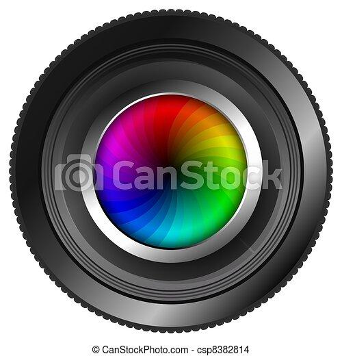 Camera Lens with Color Wheel - csp8382814