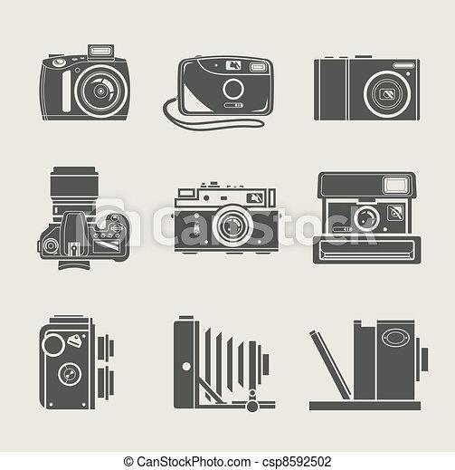 Camera New And Retro Icon Vector Illustration