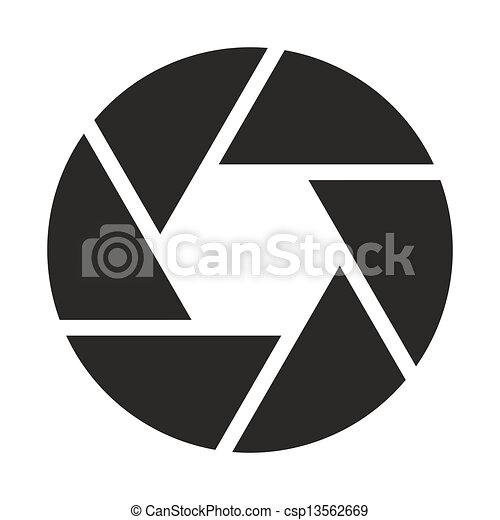 Camera objective icon (symbol) - csp13562669