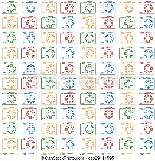 Camera Pattern Background Vector