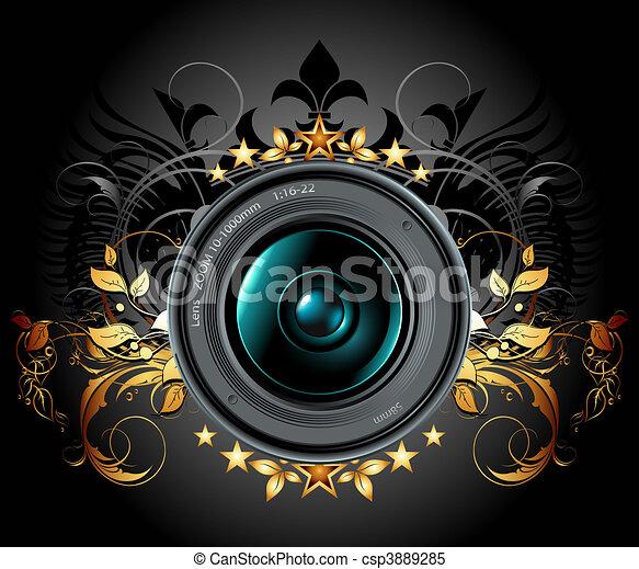 camera photo lens - csp3889285