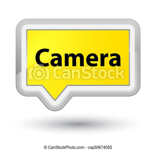 Camera prime yellow banner button - csp50674055