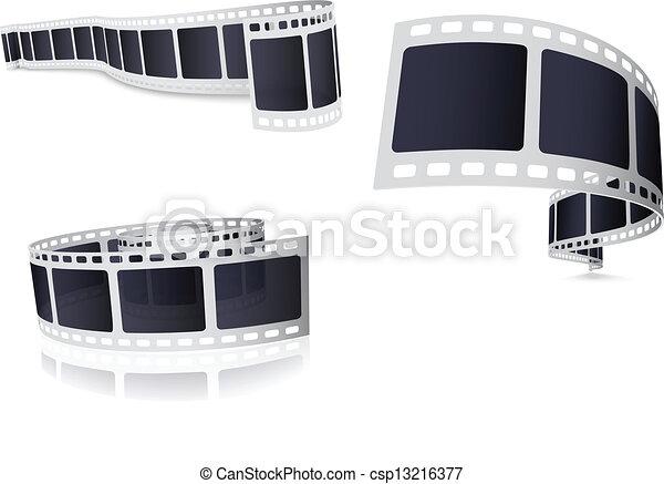 Vector Illustration Of Camera Roll Film Set vectors illustration ...