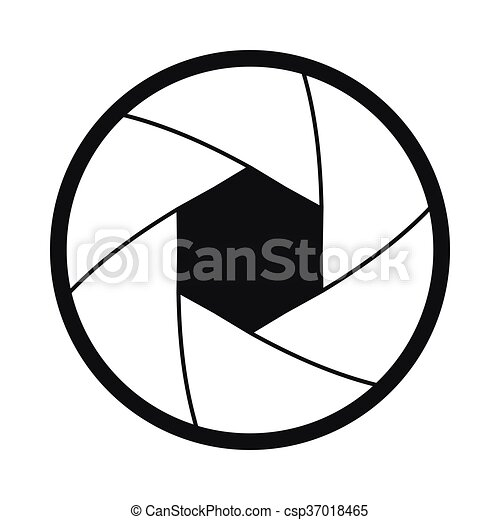 camera shutter aperture icon simple style camera shutter clip rh canstockphoto com aperture vector diffraction integrals aperture vector image