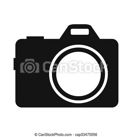 Camera Simple Icon Isolated On White Background Stock Illustrations