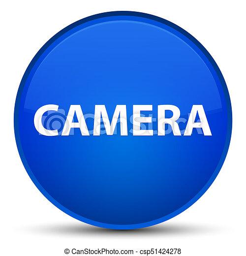 Camera special blue round button - csp51424278