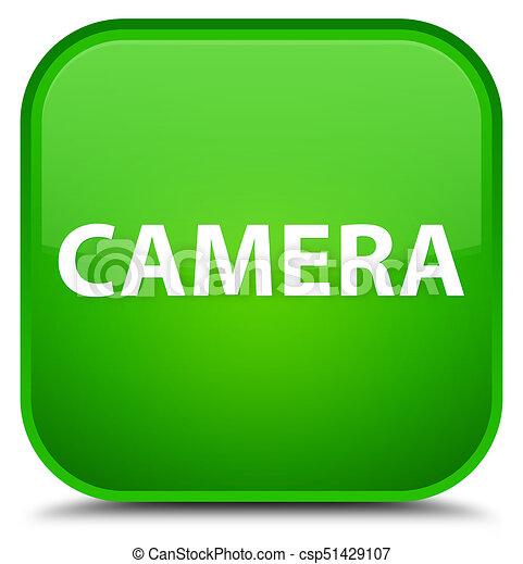Camera special green square button - csp51429107