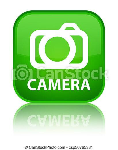 Camera special green square button - csp50765331