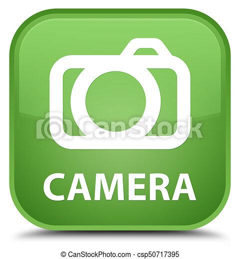 Camera special soft green square button - csp50717395