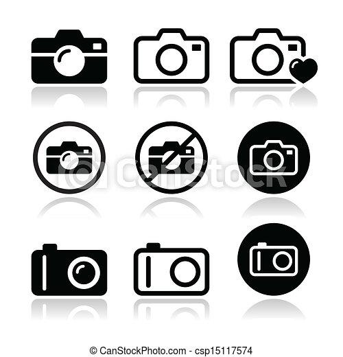Camera vector icons set - csp15117574