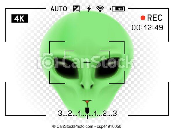 camera viewfinder alien - csp44910058